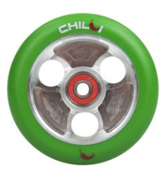 CHILLI Parabol 100 mm green / silver castor