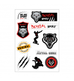 Bestial Wolf A4 stickers