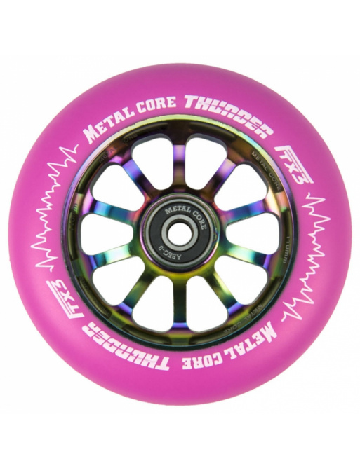 Metal Core Thunder Rainbow 110 mm round pink