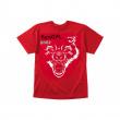 T-shirt Bestial Wolf red