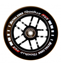 Wheel Metal Core Radius 110mm Wheel Black