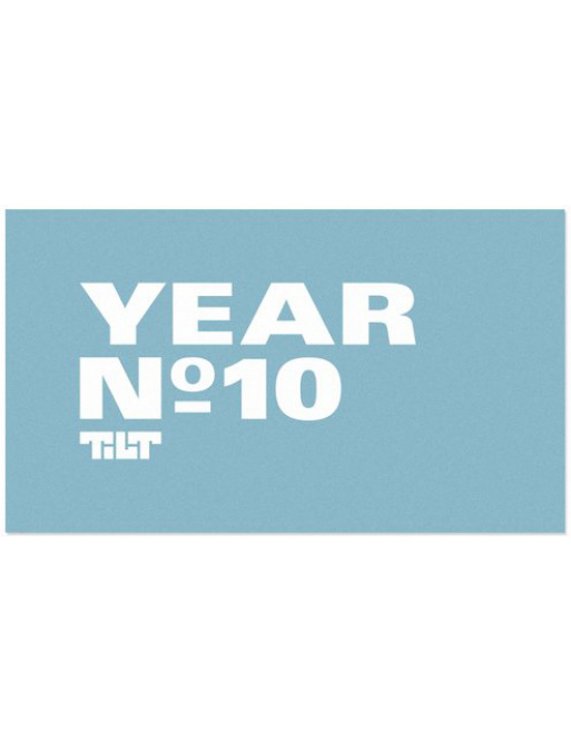 Tilt Ten Year Harmony Sticker
