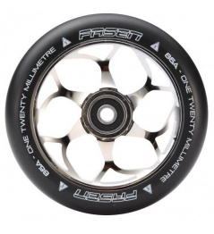Fasen 120 mm silver wheel black