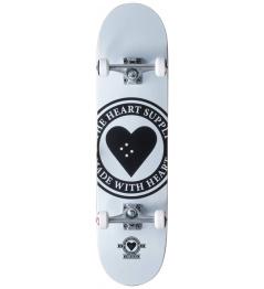 """Skateboard Heart Supply Logo 8.25 """"Badge White"""
