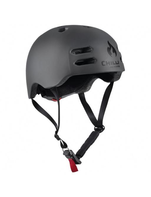 Chilli in-mold gray helmet