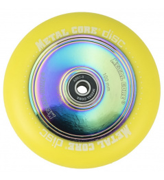 Metal Core Disc 100 mm wheel yellow