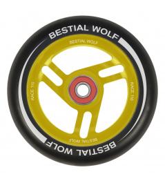 Bestial Wolf Race 110 mm wheel black-yellow