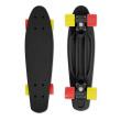FIZZ Skateboard BOARD Black Red-Yellow, black