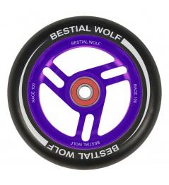 Bestial Wolf Race 100 mm wheel black purple