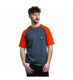 T-Shirt Nugget Asset C heather steel / red orange 2019 vell.M