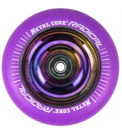 Metal Core Radical wheel 100 mm FLUORESCENT purple
