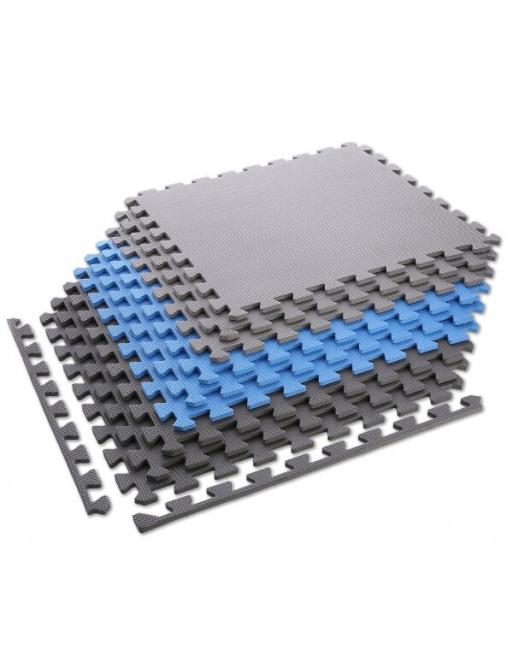 Ochranná puzzle podložka ONE FItness MP10 modro-šedá