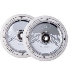 Wheels Striker Benj No Limit 110mm White / Chrome 2pcs