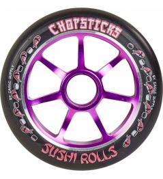 Chopsticks Sushi Rolls 110 mm black violet wheel