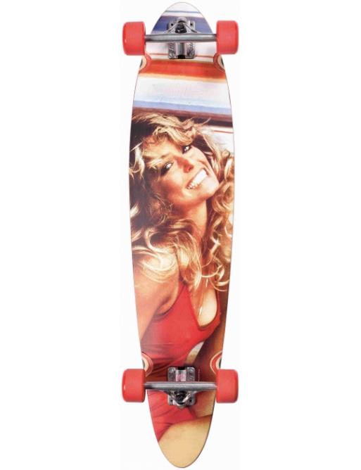 Longboard Dusters Farrah Fawcett Longboard red.40