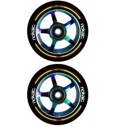 Wheels Nokaic 100mm BLACK / RAINBOW 2pcs