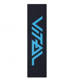 Vital logo teal griptape