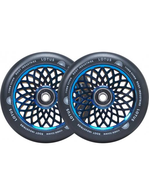 Wheels Root Lotus 110x24mm Blu-ray / Black 2pcs