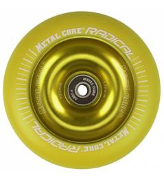 Metal Core Radical Fluorescent 110 mm yellow wheel
