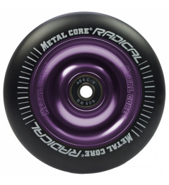 Metal Core Radical 100 mm round black violet