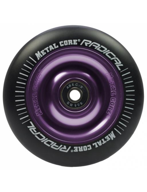 Metal Core Radical 100 mm round black violet