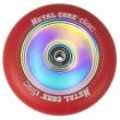 Metal Core Disc 110 mm castor red