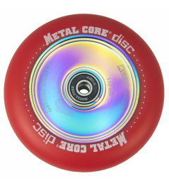 Metal Core Disc 110 mm castor red