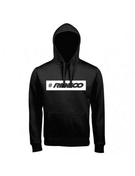 Rideoo Logo Hashtag Hoodie S Black
