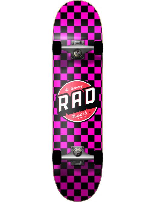 "RAD Checkers Skateboard Komplet (7"" | Checkers Pink)"