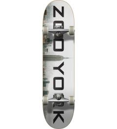 "Zoo York Logo Block Complete Skateboard (7.75 ""  Fog)"
