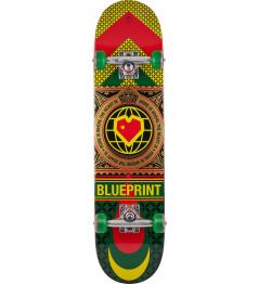 "Blueprint Skateboard Home Heart 7.625 ""Rasta"