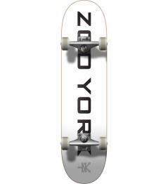 "Skateboard Zoo York Logo Block 7.75 ""White"