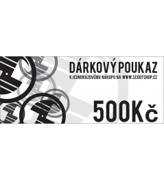 Gift voucher worth 500 CZK
