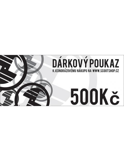 Gift voucher worth 500 CZK