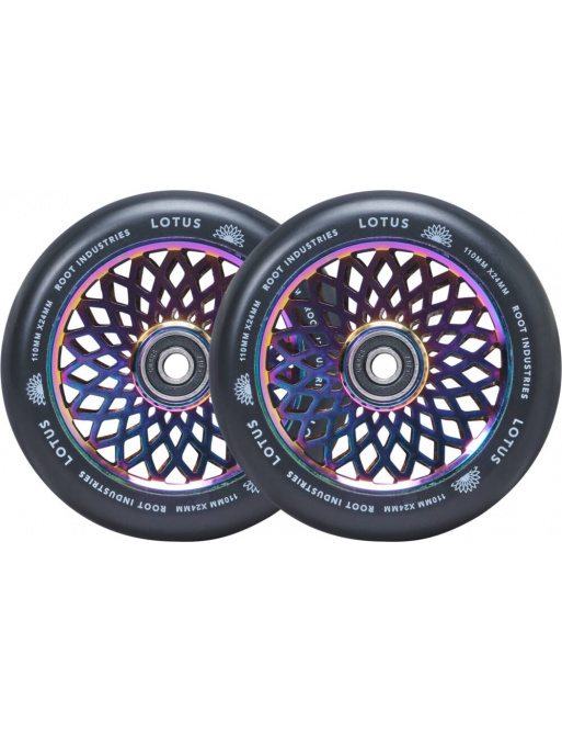 Wheels Root Lotus 110x24mm Rocket Fuel / Black 2pcs