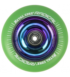 Metal Core Radical Rainbow 110 mm green wheel