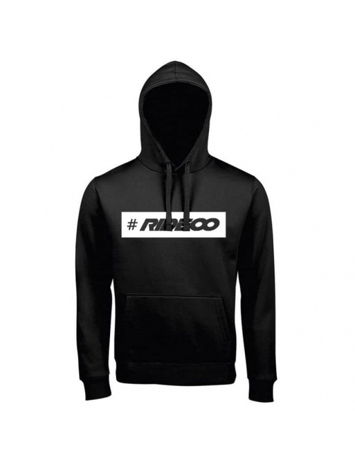 Rideoo Logo Hashtag Hoodie L Black