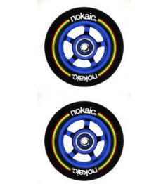 Wheels Nokaic 100mm BLACK / BLUE 2pcs