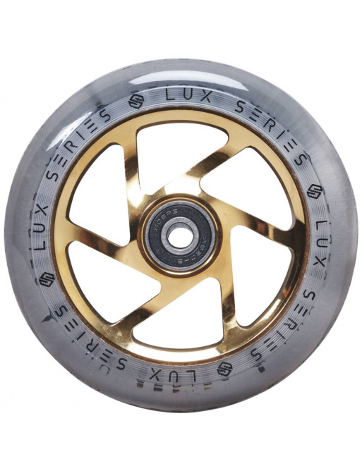 Striker Lux Clear wheel 110mm Gold Chrome