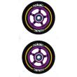 Wheels Nokaic 100mm BLACK / PURPLE 2pcs