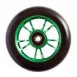 Blunt 10 Spokes 100 mm black green wheel