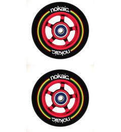 Wheels Nokaic 100mm BLACK / RED 2pcs