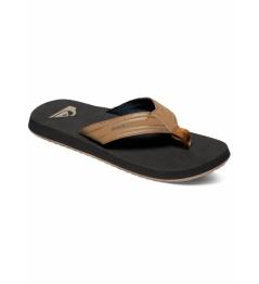 Flip flops Quiksilver Monkey Wrench brown / black 2019 vell.EUR43