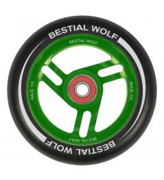 Bestial Wolf Race 110 mm wheel black-green