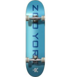 """Zoo York Skateboard OG 95 Logo Block 8 """"Blue / White"""