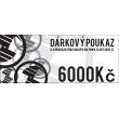 Gift voucher worth 6000 CZK
