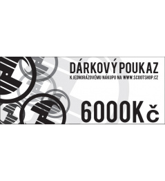 Gift voucher worth 6000 CZK