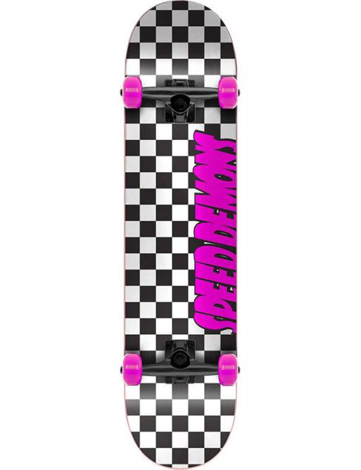 "Skateboard Speed Demons Checkers 7.75 ""Pink"
