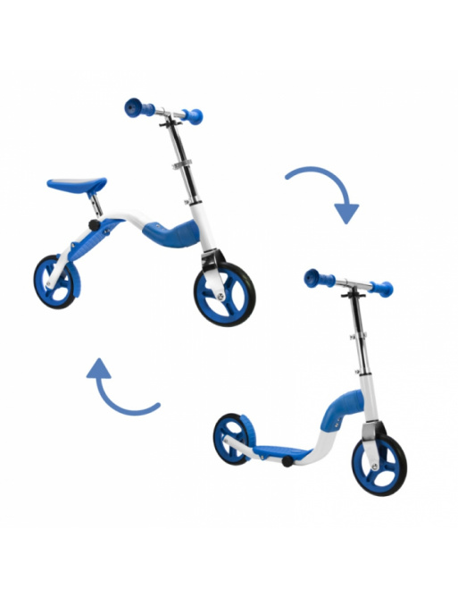 Scoobik scooter and reflector in one blue