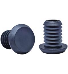 Dial 911 Black end caps for steel handlebars